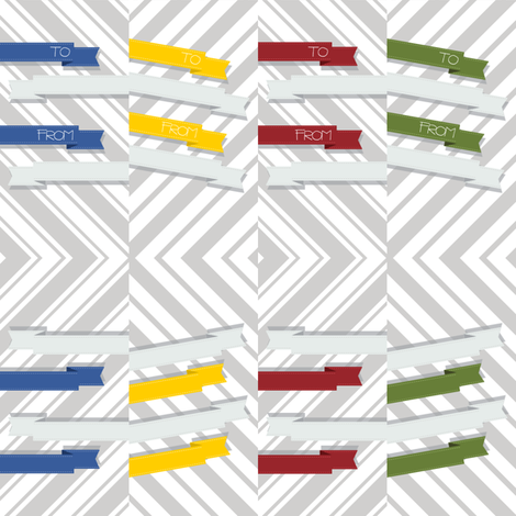 Modern Ribbon Gift Tags fabric by leighr on Spoonflower - custom fabric