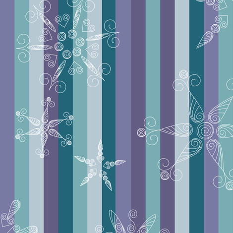 Paper Quilled Snowflake fabric by loopy_canadian on Spoonflower - custom fabric