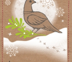 Snow Dove Gift Tags