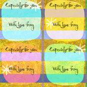 Bright Gift Tags 4""