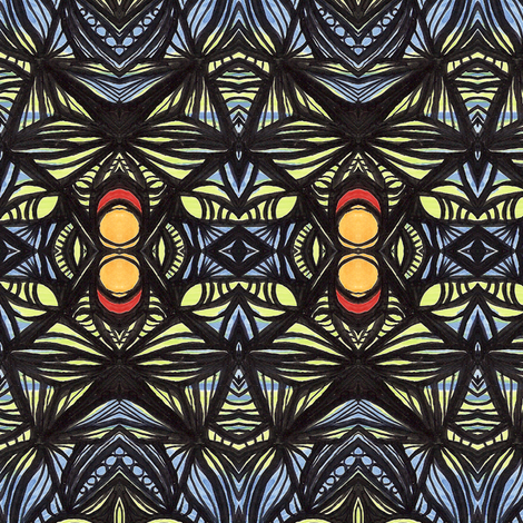 la_la_blues fabric by kcs on Spoonflower - custom fabric