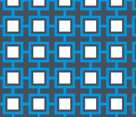 Concentric Blue Squares
