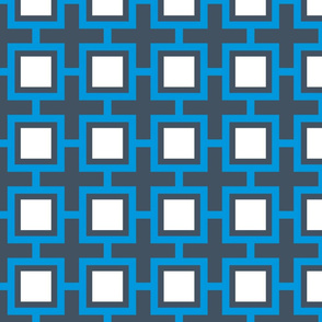 Concentric Blue Squares