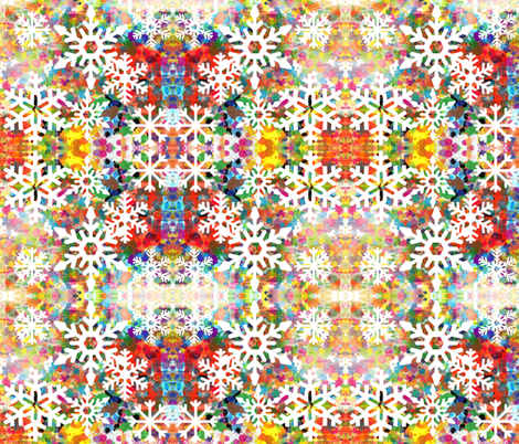 Merry and Bright fabric by owlandchickadee on Spoonflower - custom fabric