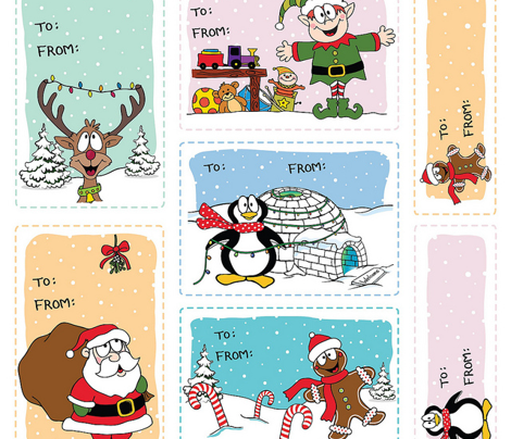 Jolly Holiday Gift Tags