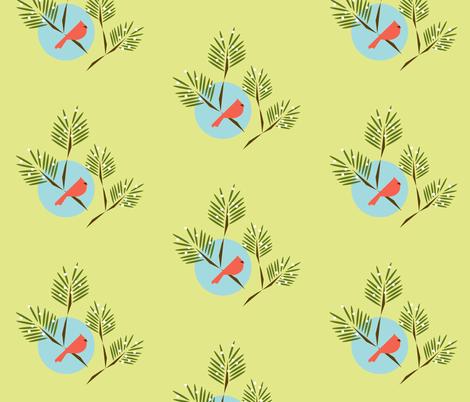 Winter bird fabric by langdon on Spoonflower - custom fabric