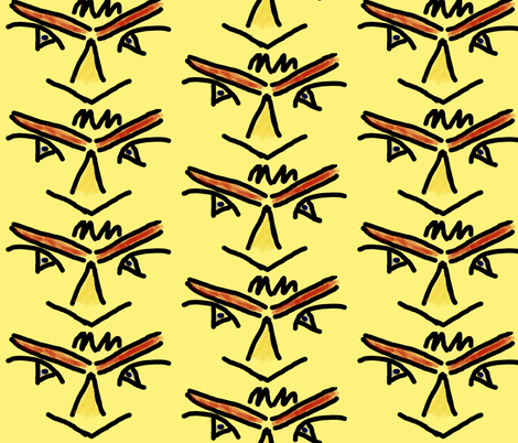 Diving Hawk fabric by anniedeb on Spoonflower - custom fabric