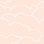 skyline clouds - pale pink