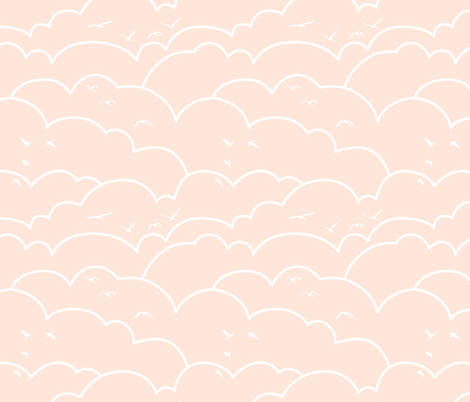 flying high - pale pink fabric by ravynka on Spoonflower - custom fabric