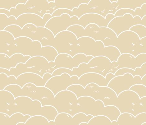 flying high - latte fabric by ravynka on Spoonflower - custom fabric