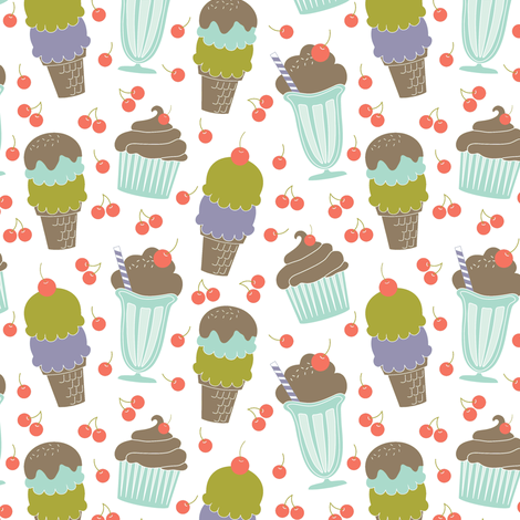 Ice Cream Parlor fabric by eleasha on Spoonflower - custom fabric