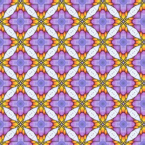 Piyo's Lattice fabric by siya on Spoonflower - custom fabric