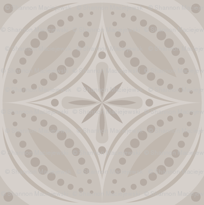Moroccan Tiles (Pale Warm Gray)
