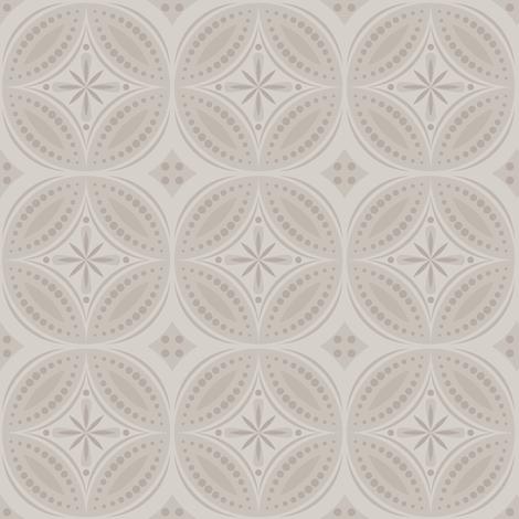 Moroccan Tiles (Pale Warm Gray) fabric by shannonmac on Spoonflower - custom fabric