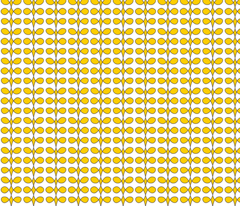 Contemporary Beanstalk in Sunny Yellow fabric by fridabarlow on Spoonflower - custom fabric