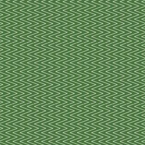 mini chevron white on green