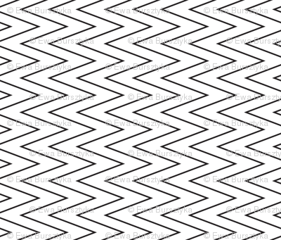mini chevron black on white