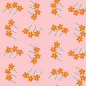 litte orange flower whirl