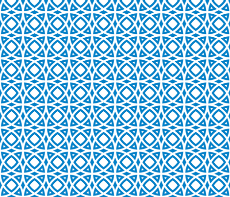 circles blue fabric by ravynka on Spoonflower - custom fabric