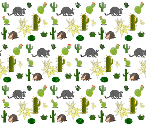 ARMADILLO PARADISE fabric by bluevelvet on Spoonflower - custom fabric