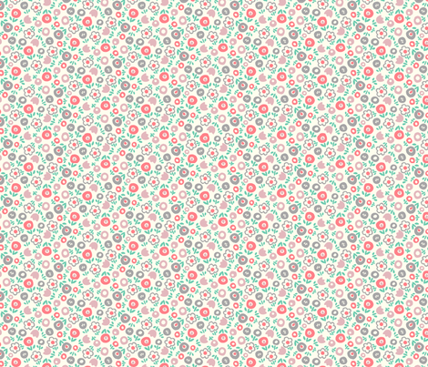 Spring Toss (coral) fabric by leanne on Spoonflower - custom fabric