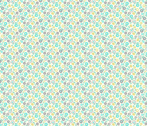 Spring Toss (blue) fabric by leanne on Spoonflower - custom fabric