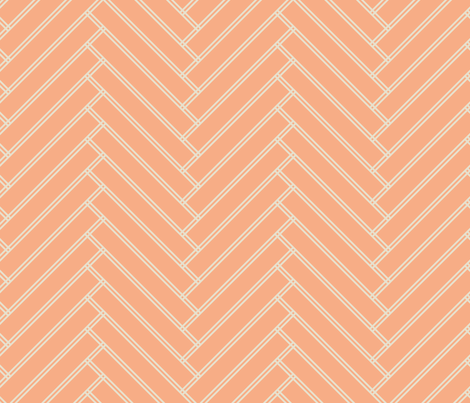 herringbone salmon fabric by ravynka on Spoonflower - custom fabric