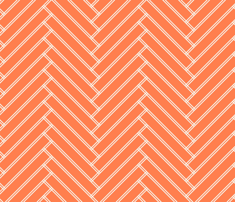 herringbone tangerine fabric by ravynka on Spoonflower - custom fabric