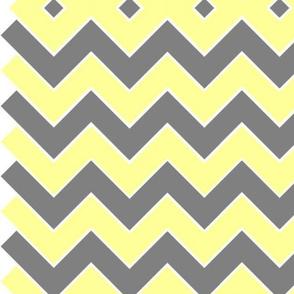 Yellow & Grey Chevron
