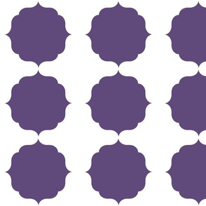 Purple Moroccan Theme Pattern