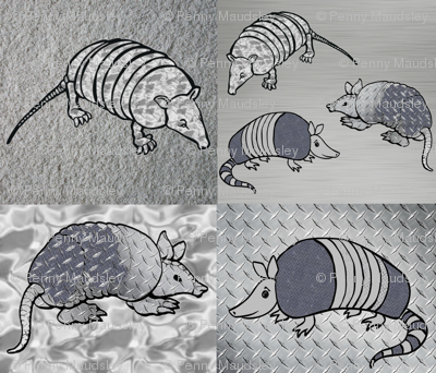 ARMADILLOS IN ARMOUR CHEATER QUILT