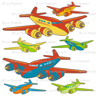 "Retro Toy Planes ~ 30"" Decal only"