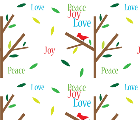 Peace Joy Love Holidays fabric by lesrubadesigns on Spoonflower - custom fabric