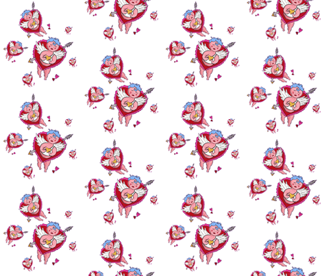 cupidswhite fabric by kristinbell on Spoonflower - custom fabric