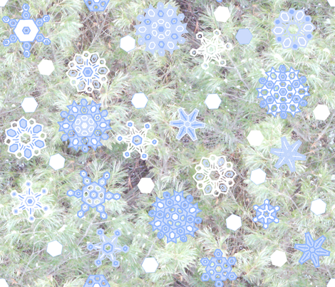 snowflakes_E_Pine_2012oilify fabric by khowardquilts on Spoonflower - custom fabric