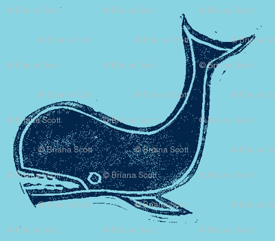 teal and navy whale