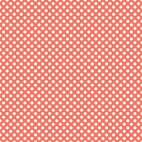 Coral Polka fabric by eleasha on Spoonflower - custom fabric