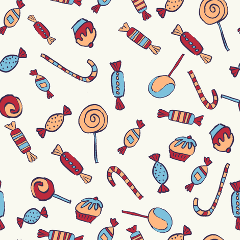 sweets fabric by sraka on Spoonflower - custom fabric
