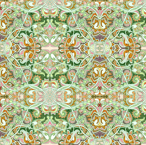 When I Was a Child I Fell in Love With Paisley (green mist abstract) fabric by edsel2084 on Spoonflower - custom fabric