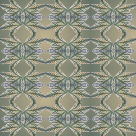leaf faces fabric by y-knot_designs on Spoonflower - custom fabric