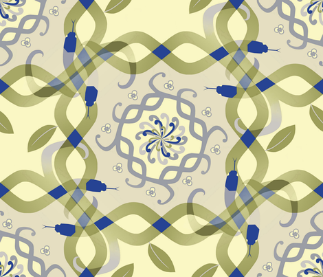 The Year of the Snake fabric by alfabesi on Spoonflower - custom fabric