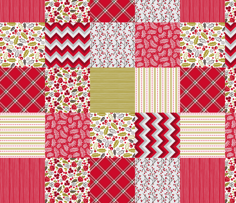 4 inch Christmas squares fabric by cjldesigns on Spoonflower - custom fabric