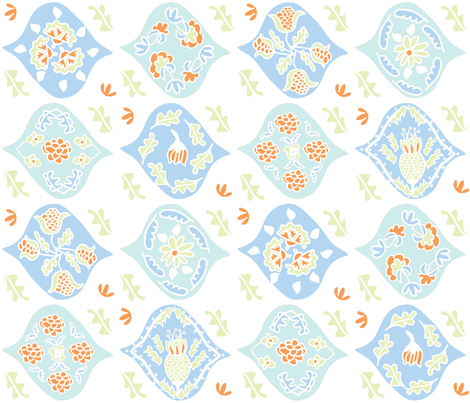 "Matisse ""Magic Carpet"" Textile (sea shades) fabric by pattyryboltdesigns on Spoonflower - custom fabric"