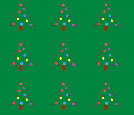 Christmas Tree Ornament fabric by monaghan on Spoonflower - custom fabric