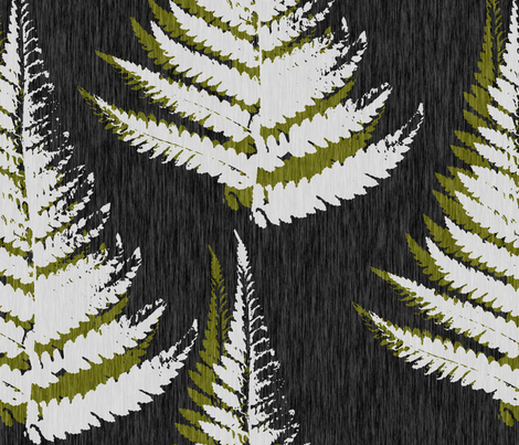 Fern Print - eco green fabric by thecalvarium on Spoonflower - custom fabric