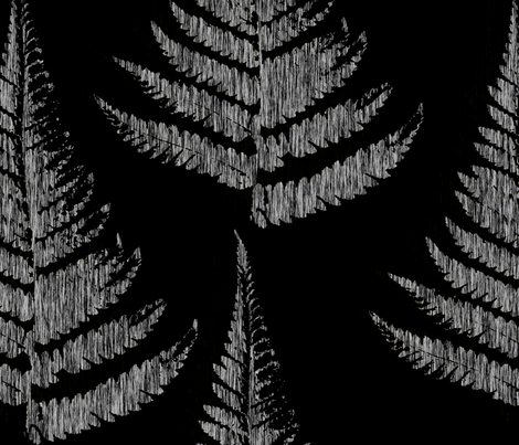 Fern Print - dark fabric by thecalvarium on Spoonflower - custom fabric