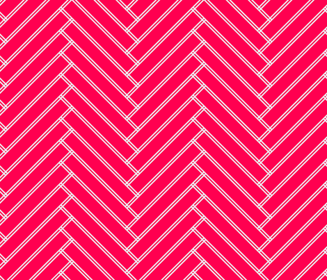 herringbone red  fabric by ravynka on Spoonflower - custom fabric