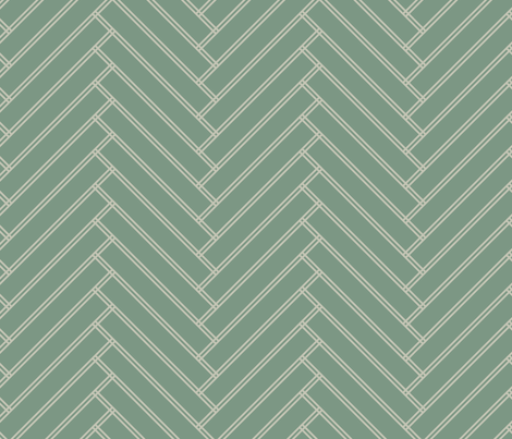 herringbone green grays fabric by ravynka on Spoonflower - custom fabric