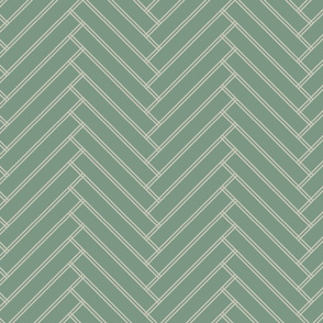 herringbone green grays