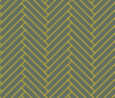 herringbone mustard fabric by ravynka on Spoonflower - custom fabric